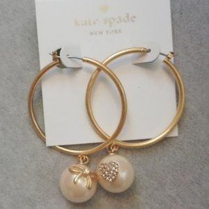 New Kate Spade Heart and Bow Earrings